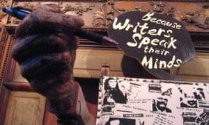 The PEN Empty Chair symbolises imprisoned authors at book festivals