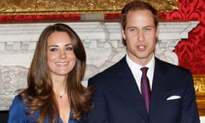 1 Prince William and his fiancee Kate Middleton pose for a photograph in St. James's Palace