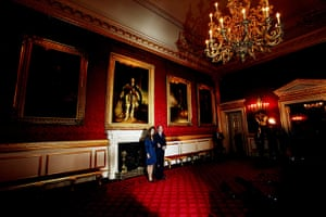 William's engagement: Prince William and Kate Middleton in the State Apartments