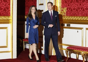 William's engagement: Prince William and his fiancee Kate Middleton arrive for a media photocall