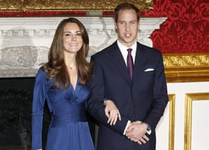 William's engagement: Prince William and his fiancee Kate Middleton pose for a photograph