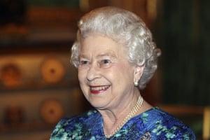 William's engagement: Queen Elizabeth smiles during a reception at Windsor Castle