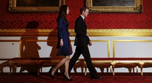 William's engagement: Prince William and his fiancee Kate Middleton arrive at a photocall