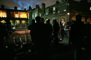William's engagement: Media outside St James's Palace London as the Royal engagement is announced