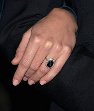 William's engagement: A close up of Kate Middleton's engagement ring