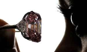 Laurence Graff paid a record $46m for the 24.78-carat pink diamond at a Sotheby's auction
