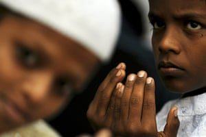 Eid al-Adha: Young Indian Muslims attend congregation
