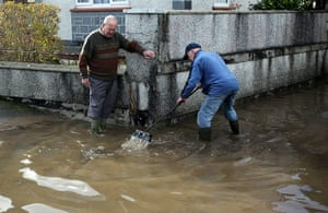 cornwall flooding update: Residents try to clear flood water in  St Blazey