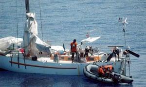 French Sailboat Tanit Held by Pirates, Somalia