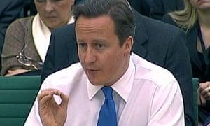 David Cameron before Commons liason committee