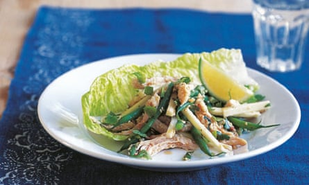 Yacon and green bean salad