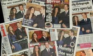 Royal Wedding newspapers