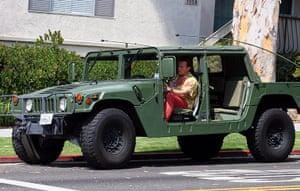 Arnold Schwarzenegger : Arnold Schwarzenegger in his Hummer H1, Los Angeles, America - 13 Jul 2008