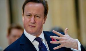 British Prime Minister David Cameron add