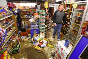 Cameron Visit Cornwall: Keith Watson cleans-up his newsagent's in Mevagissey