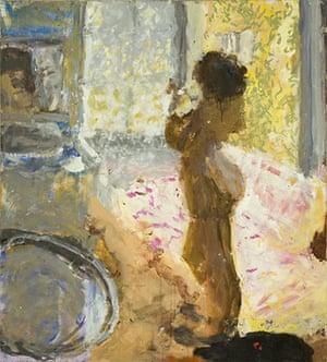Sargy Mann: Standing Nude, after Bonnard by Sargy Mann