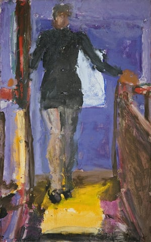 Sargy Mann: Frances at the Top of the Stairs by Sargy Mann