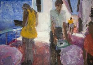 Sargy Mann: Cafe above the sea by Sargy Mann