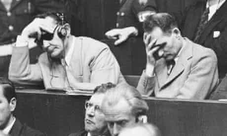 nuremberg trial dock nazis