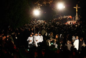 All Saints: Residents commemorate All Saints Day at the Mirogoj, Zagreb's main cemetery