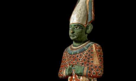 Anhai's wooden statuette of the god Osiris