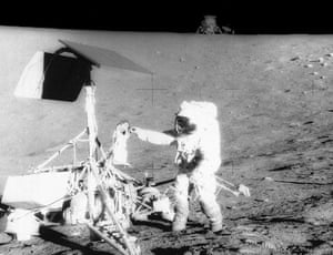 Two spacecraft on the moon