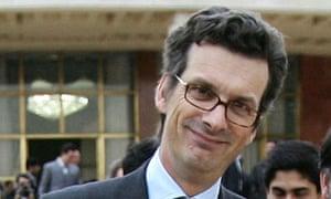 Britain's former ambassador to Iran Geoffrey Adams