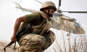 Pakistani forces in action in South Waziristan in 2009