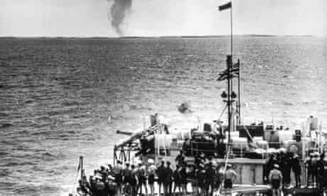 British atomic test on the Monte Bello islands
