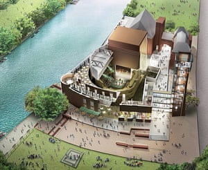 RSC Stratford-upon-Avon : The Royal Shakespeare Theatre, Stratford-upon-Avon.Computer generated plans
