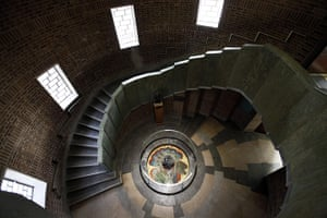 RSC Stratford-upon-Avon : Interiors of the newly restored Royal Shakespeare Theatre