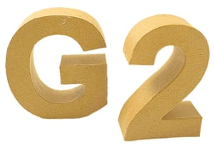G2 gift guide: £3: Cardboard letters and numbers