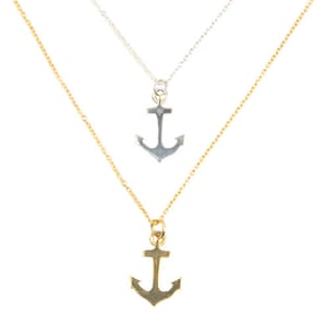 Christmas gift guide £50: Silver Anchor Necklace From EC One