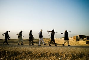Taliban fighters: Taliban fighters in the district of Dani Ghori in Baghlan