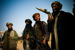 Taliban fighters: Taliban fighters in the district of Dahani Ghori, Baghlan