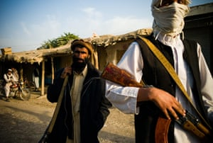 Taliban fighters: Taliban fighters in the district of Dahani Ghori