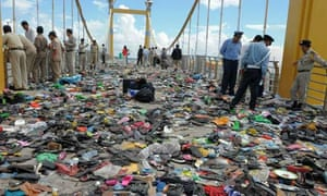 Cambodian police on Rainbow Bridge