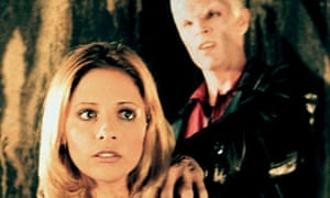 Sarah Michelle Gellar as Buffy and James Marsters as Spike in Buffy the Vampire Slayer