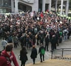 Students protest at Leeds University