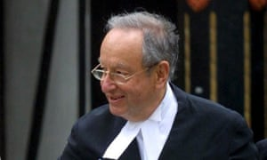 Lord Lester QC at the High Court, London.