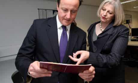 David Cameron and Theresa May visit Heathrow