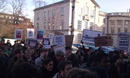 cardiff students protest