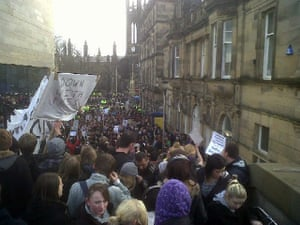 Pictures by students: Newcastle student protests