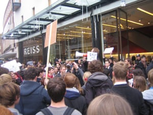 Pictures by students: Hundreds of students (easily 500+) marched through Exeter City Centre