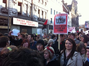 Pictures by students: The University of Liverpool protest