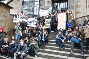 Pictures by students: Glasgow School of Art protests