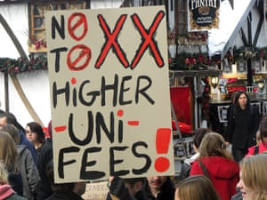 Pictures by students: Students protest in Nottingham