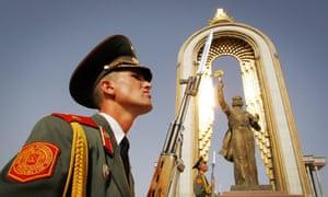 Tajik soldiers in Dushanbe