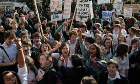 Student protest at tuition fees, Bristol