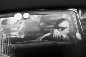 David Goldblatt: Homage to Frederico Fellini: while in traffic, 1967